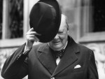 Churchill in front of Zurich City Hall, 19 September 1946 © André Melchior